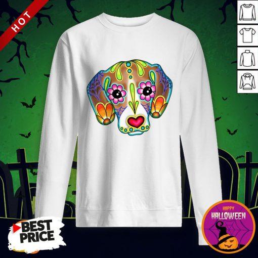 Day Of The Dead Beagle Sugar Skull Dog Day Dead Dia De Los Muertos Sweatshirt
