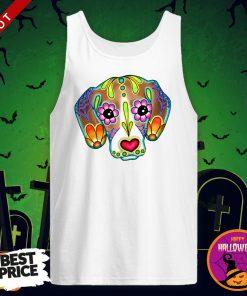 Day Of The Dead Beagle Sugar Skull Dog Day Dead Dia De Los Muertos Tank Top