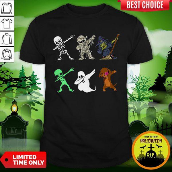 Funny Halloween Dachshund Dabbing Halloween 2020 Shirt