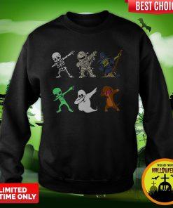 Funny Halloween Dachshund Dabbing Halloween 2020 Sweatshirt