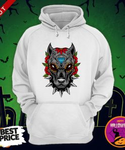 Halloween Day Of The Dead Sugarskull Scary Pitbull Hoodie