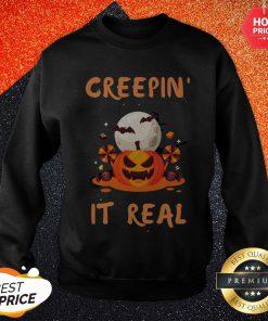 Halloween Funny Gift Pumpkin Greepin' It Real Sweatshirt