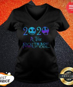 Jack Skellington And Sally 2020 A True Nightmare Halloween V-neck