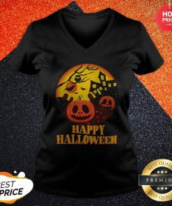 Official Scary Happy Halloween Vibes V-neck