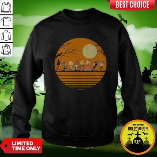 Pro Halloween The Peanuts Moon Vintage Retro Sweatshirt
