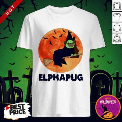 Pug Elphapug Halloween Shirt By T-shirt