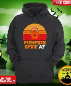 Pumpkin Spice Af Funny Men Husband Halloween Gift Vintage Hoodie