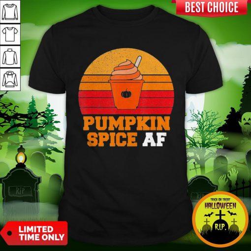 Pumpkin Spice Af Funny Men Husband Halloween Gift Vintage Shirt