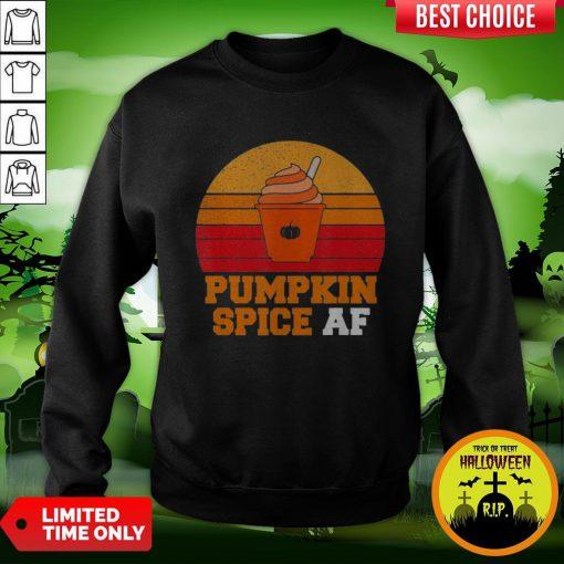 Pumpkin Spice Af Funny Men Husband Halloween Gift Vintage Sweatshirt
