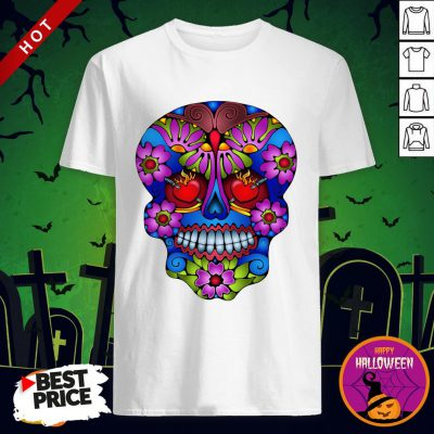 Sugar Skull Colorful Day Of The Dead Shirt