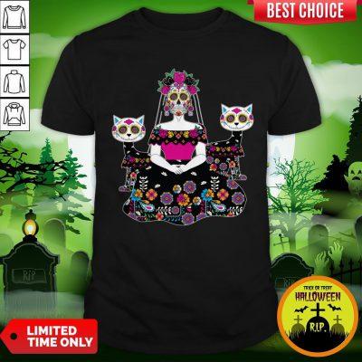 Sugar Skull Day Of The Dead Mexico Skeleton Shirt