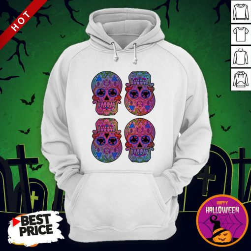 Sugar Skulls Day Of The Dead Mexican Holiday Hoodie