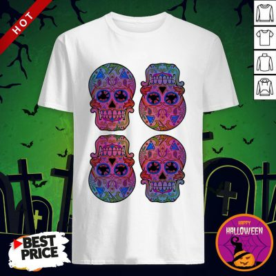 Sugar Skulls Day Of The Dead Mexican Holiday Shirt