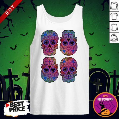Sugar Skulls Day Of The Dead Mexican Holiday Tank Top