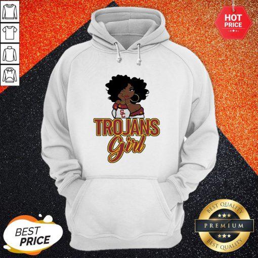 Sweet Black Girl Trojans Girl Hoodie
