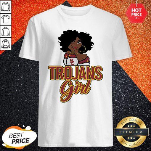 Sweet Black Girl Trojans Girl Shirt
