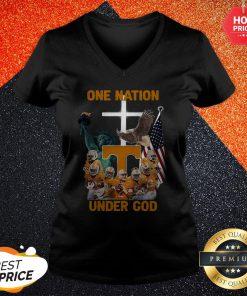 Tennessee Volunteers One Nation Under God V-neck