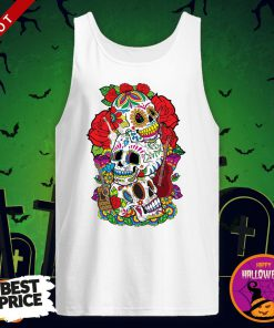 Three Sugar Skulls Day Of The Dead Dia De Los Muertos Tank Top