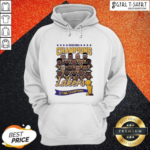 2020 NBA Champions Lakers 17 Time Champions Hoodie