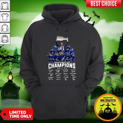 2020 Stanley Cup Champions Tampa Bay Signatures Hoodie