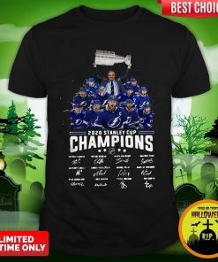 2020 Stanley Cup Champions Tampa Bay Signatures Shirt