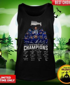 2020 Stanley Cup Champions Tampa Bay Signatures Tank Top