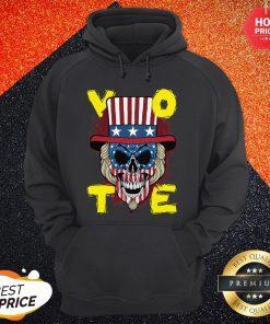 American Vote Skull Halloween Hoodie