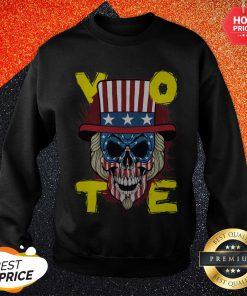 American Vote Skull Halloween Sweatshirt