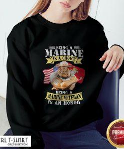 Being A Marine Is A Choice Marine Veteran Is An Honor Sweatshirt