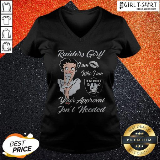Betty Boop Oklahoma Raiders Girl I Am Who I Am Your Approval Isn't Needed V-neck