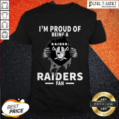 Blood Inside I'm Proud Of Being A Oklahoma Raiders Fan Shirt