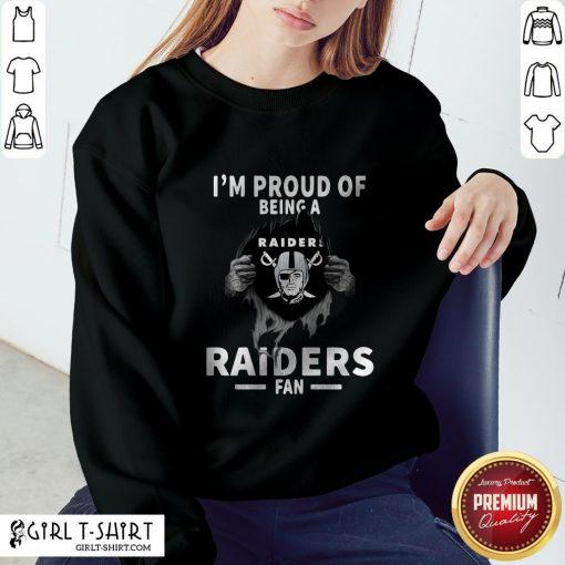 Blood Inside I'm Proud Of Being A Oklahoma Raiders Fan Sweatshirt