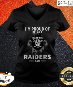 Blood Inside I'm Proud Of Being A Oklahoma Raiders Fan V-neck