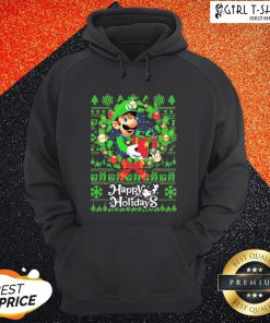 Bro Mario Ugly Merry Christmas Happy Holidays Hoodie - Design By Girltshirt.com