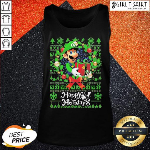 Bro Mario Ugly Merry Christmas Happy Holidays Tank Top - Design By Girltshirt.com