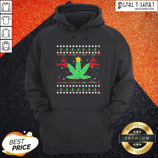 Cannabis Light Reindeer Christmas Hoodie