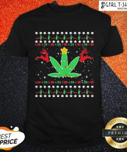 Cannabis Light Reindeer Christmas Shirt