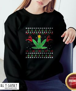 Cannabis Light Reindeer Christmas Sweatshirt
