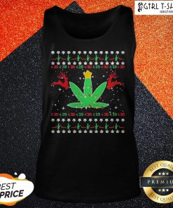 Cannabis Light Reindeer Christmas Tank Top