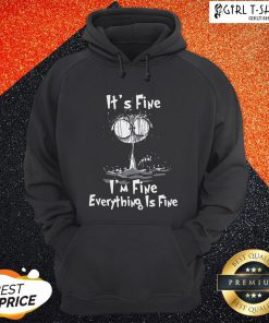Cat It's Fine I'm Fine Everything Is Fine Hoodie
