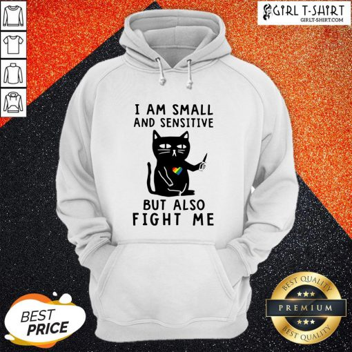 Color Black Cat I Am Small And Sensitive Nevermind But Also Fight Me LGBT Hoodie - Design By Girltshirt.com