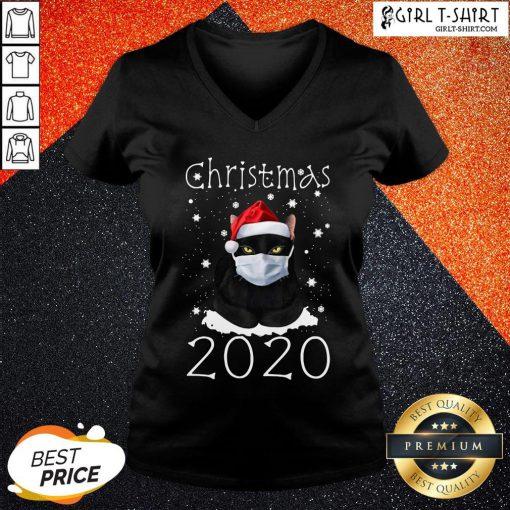 Congratulations Merry Christmas 2020 Cat V-neck - Design By Girltshirt.com