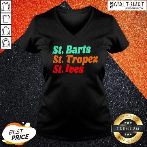 Crazy StBarts StTropez StIves V-neck - Design By Girltshirt.com