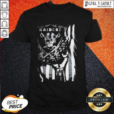 Cute Blood Inside Oklahoma Raiders American Flag Shirt