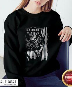 Cute Blood Inside Oklahoma Raiders American Flag Sweatshirt
