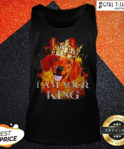 Dachshund I Am Your King Tank Top