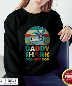 Daddy Shark Doo Doo Doo Oklahoma Raiders Vintage Retro Sweatshirt