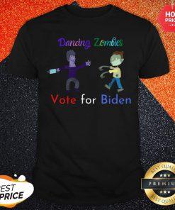 Dancing Zombies Vote For Biden Corona Virus Halloween Shirt