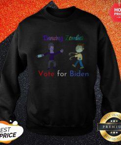 Dancing Zombies Vote For Biden Corona Virus Halloween Sweatshirt