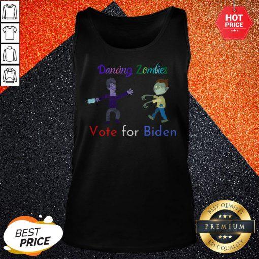 Dancing Zombies Vote For Biden Corona Virus Halloween Tank Top